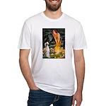 Midsummer's Eve & Saluki Fitted T-Shirt