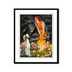 Midsummer's Eve & Saluki Framed Panel Print