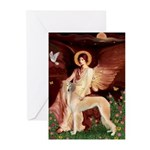 Seated Angel / Saluki Greeting Cards (Pk of 20)