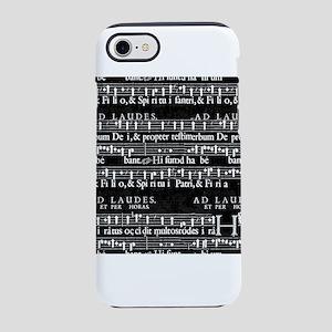grunge music notes iPhone 8/7 Tough Case