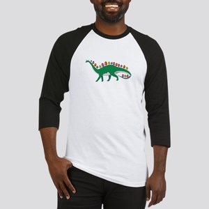 Dinosaur With Easter Eggs and Bunn Baseball Jersey