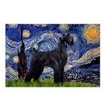 Starry Night / Schnauzer Postcards (Package of 8)