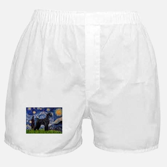 Starry Night / Schnauzer Boxer Shorts