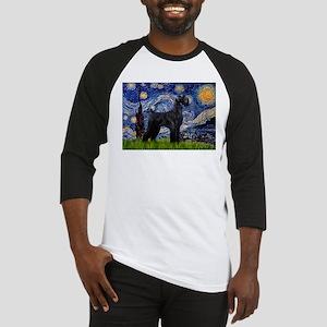 Starry Night / Schnauzer Baseball Jersey