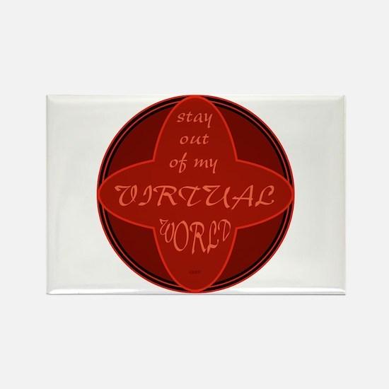 Virtual World Rectangle Magnet