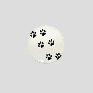 Walk-On-Me Pawprints Mini Button