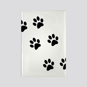 Walk-On-Me Pawprints Rectangle Magnet