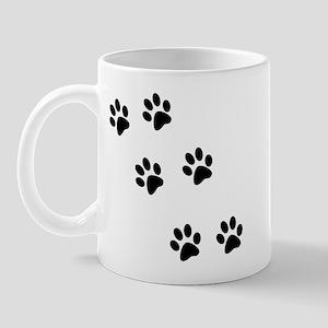 Walk-On-Me Pawprints Mug