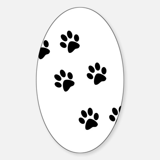 Walk-On-Me Pawprints Oval Decal