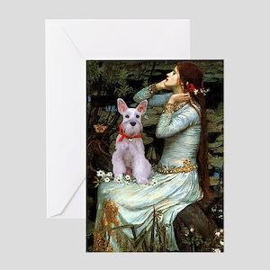 Ophelia's Schnauzer Greeting Card