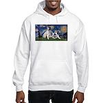 Starry Night / Min Schnauzer Hooded Sweatshirt