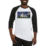Starry Night / Min Schnauzer Baseball Jersey