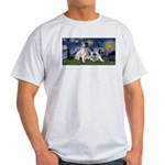 Starry Night / Min Schnauzer Light T-Shirt