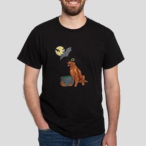 Irish Setter Witch Halloween Dark T-Shirt