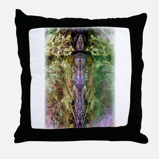 Shapeshifter Stone Totem Throw Pillow