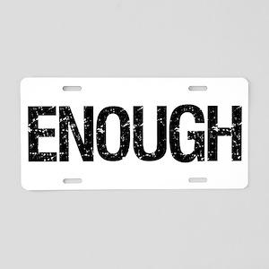 Enough Aluminum License Plate