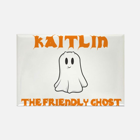 Kaitlin the Friendly Ghost Rectangle Magnet