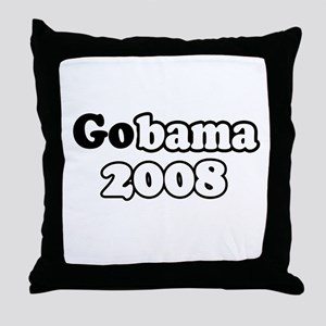 GoBama 2008 Throw Pillow