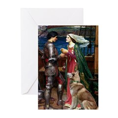 Tristan & Isolde Husky Greeting Cards (Pk of 10)