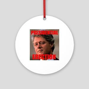 Presidential Erection Ornament (Round)