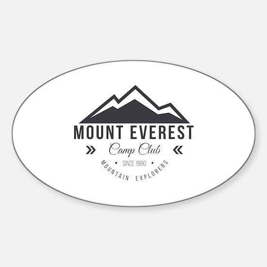 Unique Hiking logo Sticker (Oval)