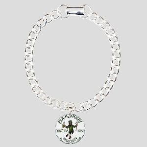 happy saint patrick' Charm Bracelet, One Charm