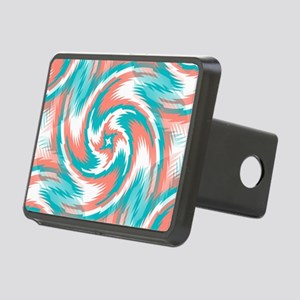 Coral Teal Swirl Hitch Cover