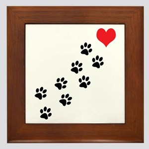 Paw Prints To My Heart Framed Tile