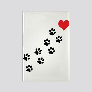 Paw Prints To My Heart Rectangle Magnet