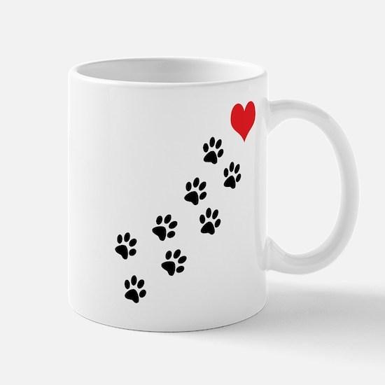 Paw Prints To My Heart Mug