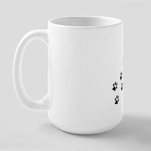 ff928ed6fb0 Paw Prints To My Heart Large Mug