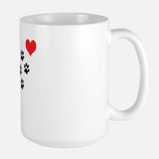Paw Prints To My Heart Large Mug