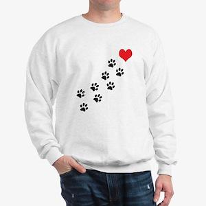 Paw Prints To My Heart Sweatshirt