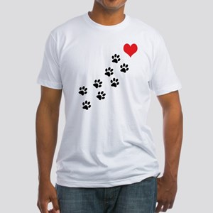 Paw Prints To My Heart Fitted T-Shirt