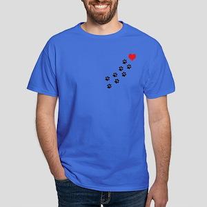Paw Prints To My Heart Dark T-Shirt