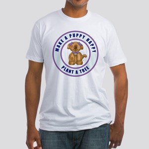 Make A Puppy Happy Fitted T-Shirt