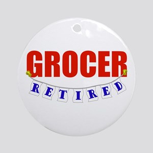 Retired Grocer Ornament (Round)