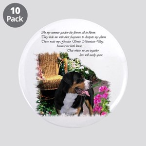 "Greater Swiss Mountain Dog 3.5"" Button (10 pack)"