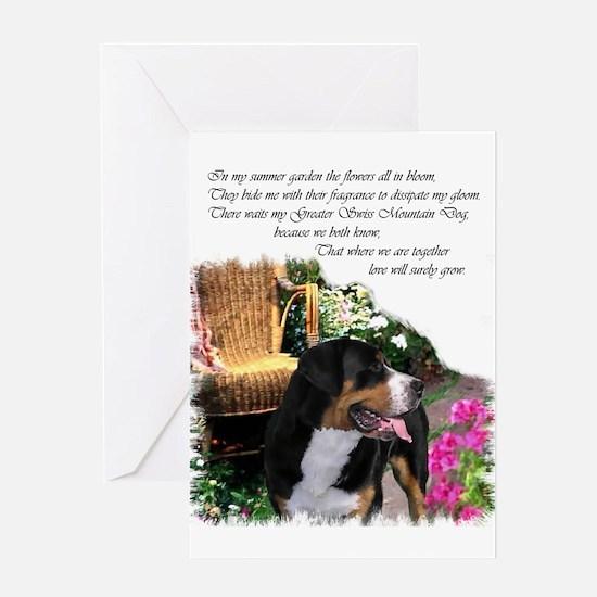 Greater Swiss Mountain Dog Greeting Card