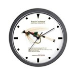 Standard wet fly Wall Clock