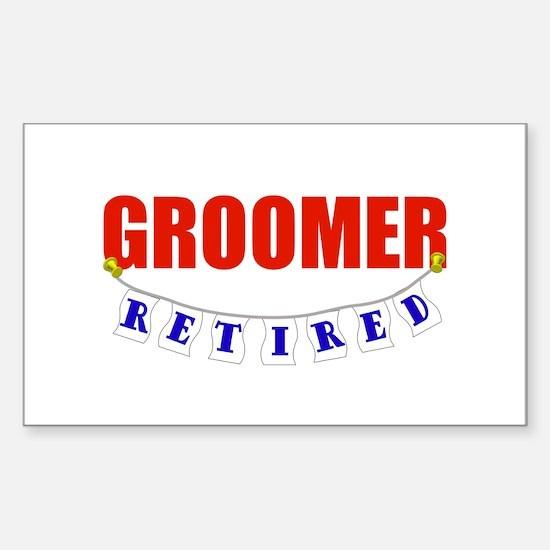 Retired Groomer Rectangle Decal