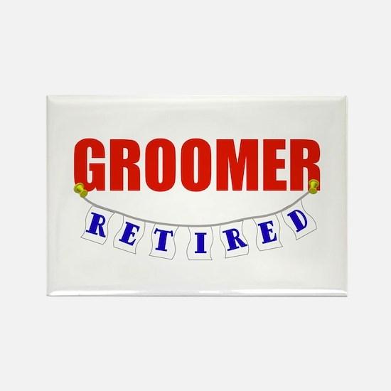 Retired Groomer Rectangle Magnet