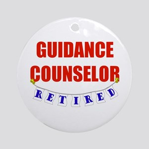 Retired Guidance Counselor Ornament (Round)