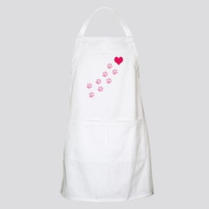 Pink Paw Prints To My Heart BBQ Apron