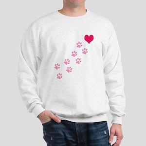 Pink Paw Prints To My Heart Sweatshirt