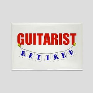 Retired Guitarist Rectangle Magnet