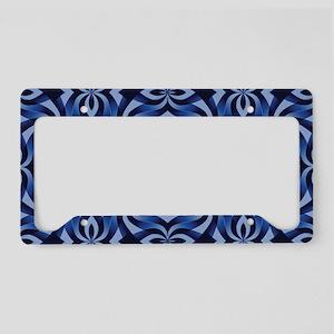Decorative Blue Swirls License Plate Holder