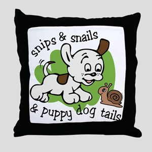 Snips And Snails Throw Pillow