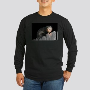 Visiting Possum Long Sleeve Dark T-Shirt