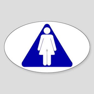Transwomen's Room Oval Sticker